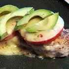California Chicken - Simple but delicious! Chicken, tomato, cheese and fresh avocado - yum!!!
