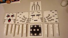 Minecraft ghast perler bead layout 3d perler bead project