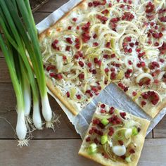 French flammkuchen from Alsace. It's good.