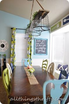 I like the idea of a chalkboard like this for the wall above the trashcan.