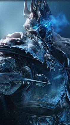 World of Warcraft Lich King Arthas Frostmourne Warcraft Characters, Fantasy Characters, Dark Fantasy Art, Fantasy World, Final Fantasy, Arthas Menethil, World Of Warcraft Wallpaper, Illustration Fantasy, Warcraft 3