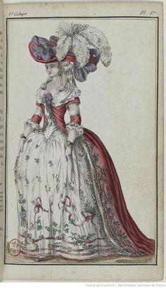Fashion Plate January 1786 Cabinet des modes, ou les Modes...