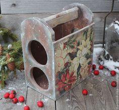 """Купить """"Christmas Melody"""" мини -бар - белый, красный, зеленый, рождество, рождественский подарок"""