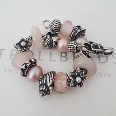 Troll Beads, New Pandora, Bracelet Display, Baby Jewelry, Jewelry Companies, Conch, Silver Beads, Pastels, Charms