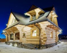 Large Log House by The Little Log House Co.