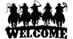 5 Cowboys Welcome Sign