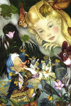 Adrienne Segur (1901 – 1981, French) The Seven Crow Princes