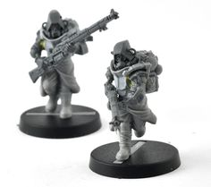 We combine regiments trench fighter parts with games workshops skitarii kits to create some uniquely equipped squads!