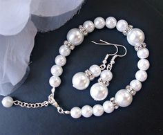 Hey, I found this really awesome Etsy listing at https://www.etsy.com/listing/188374019/bridal-jewelry-set-white-pearl-earring