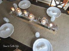 Rustic table decor.