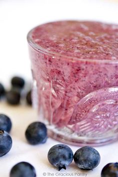 Clean Eating Blueberry Smoothie
