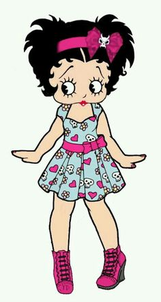 Booptifulg-I don't get mad Betty Boop Pictures, Retro Furniture, Minnie Mouse, Disney Characters, Fictional Characters, Disney Princess, Cute, Artwork, Baby