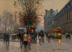 Edouard Cortes - Quai du Louvre. This and more important fine art for sale on CuratorsEye.com