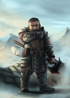 Commission done for a Dungeons & Dragons player. Fantasy Dwarf, Medieval Fantasy, Fantasy Rpg, Fantasy Portraits, Character Portraits, Fantasy Inspiration, Character Design Inspiration, Character Concept, Character Art
