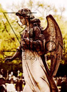 Graveyard angel by GiedysARTvision on Etsy, £15.00