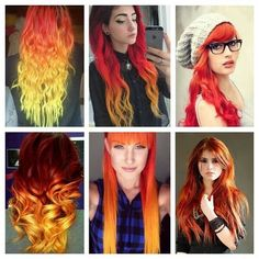 Orange Ombre Hair