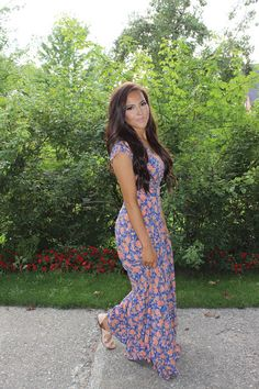 Sarah & Elizabeth -- FALL FOR FLORAL  MAXI