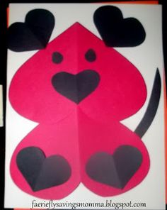 My Kind Of Introduction: Valentine's Day Heart Dog Craft for Kids! QUICK, EASY AND FUN!
