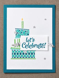 We love how easy it is to make colorful, festive birthday cakes with the two stepping images of the Cake Crazy stamp set! #stampinup #OccasionsMini2017