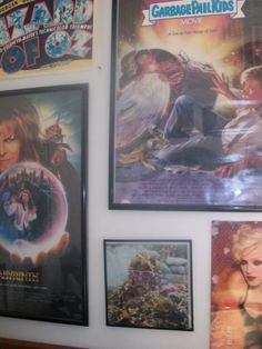 Some posters MJ had hanging in his room when he lived in Allen Kentucky