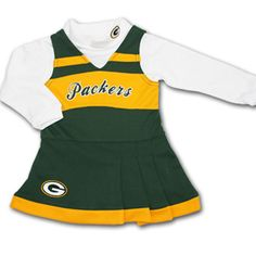 Packers Toddler Cheerleader Outfit