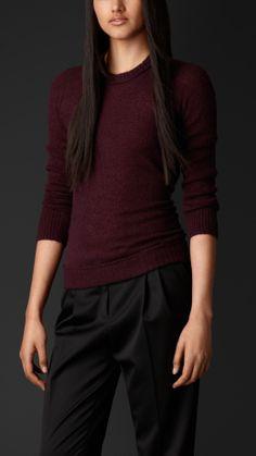 Cashmere Silk Sweater   Burberry