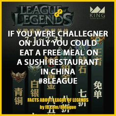 Sushi Restaurants, Free Meal, League Of Legends, Free Food, Facts, China, Meals, Image, Meal