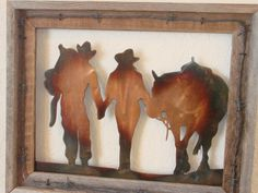 Click here for more information on our Cnc Plasma Cut Cowboy & Cowgirl; https://www.etsy.com/listing/110005827/cowboy-cowgirl-wall-hanging?ref=shop_home_active_6 $49.99