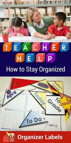 Go back to school organized with these teacher planner and classroom organizer labels.  These fun page corner organizers work with any teacher binder or planner and keep papers and books organized too.  Slip them on sub plans, lessons, student papers, books, and just about anything.  Use them to help your students stay organized too.   #backtoschool, #tpt, #BTS, #classroom labels, #organization, #teacherplanner
