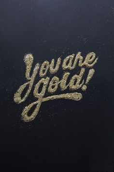 """In this article we have collected some of the best inspiration in terms of golden hand-lettering and typography. Great quality art by talented creatives and artists all over the globe. Lettering and typography in few words Lettering is defined as """"t. Words Quotes, Wise Words, Me Quotes, Motivational Quotes, Inspirational Quotes, Monday Quotes, Daily Quotes, Josie Loves, Simple Math"""