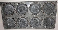 Antique Gray Graniteware Enamelware Muffin Tin Cupcake Pan 8 Cup Pan Price: $34.95