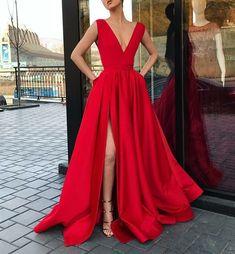 Las 29 Mejores Imágenes De Vestidos Rojos Largos En 2019