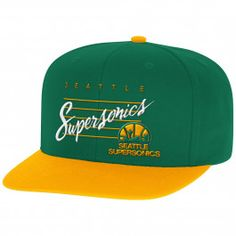 Cursive Script with Logo Snapback Seattle SuperSonics - Shop Mitchell   Ness  NBA Snapbacks and Headwear 6b882e969bbe