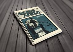 Laminated Spiral Notebook - April 1925 Sports Afield Journal - Vintage Fishing Illustration - Fishing Print - Bullhead Fishing - Lake - Dock by AdirondackRetro on Etsy