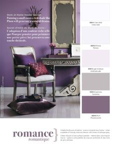 Create the illusion of patina - even in a brand-new home - when a palette of moody mauves blends with tones of antique grey