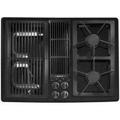 "Jenn-Air® Designer Line Modular 30"" Gas Downdraft Cooktop-Black-JGD8130ADB"