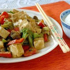 Tofu and Veggies in Peanut Sauce - Allrecipes.com