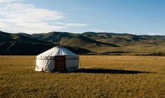 Low-impact luxury … a tent at Jalman Meadows, a luxury ger camp in Mongolia.
