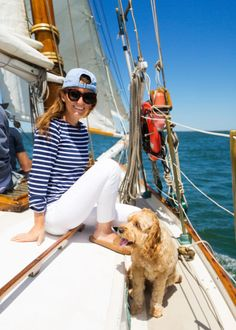 Our Nantucket sailboat charter with Endeavor Sailing! We love this sailboat charter so much we've done it every summer for six years now (and even took some of our engagement photos while sailing!
