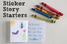 These fabulous little books from Make and Takes are a great way to encourage kids to develop stories. All you need are a few crayons, stickers and index cards to let the imagination flow!