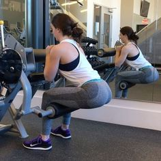 No sissy squat machine at your gym? No problem. Use the leg extension or leg curl machine instead by placing the pad against your calves slightly below the knee joint. Sissy squats are perfect for targeting your quads. Add weights for more of a challenge. These will BURN. Follow up with the second exercise here: a squat superset. Use the cable machine to do 10 regular squats, followed immediately by 10 squats as fast as possible. This will help with explosiveness of the movement, something…