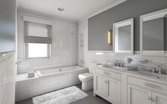 Beautiful Modern Bathroom Colors 31 With Additional Home Decoration Ideas with Modern Bathroom Colors Do you Want a good living room decoration concept? Well, for this matter, you want to understand about the Modern Bathroom Colors. Gray And White Bathroom, Jack And Jill Bathroom, Grey Bathrooms, Beautiful Bathrooms, Modern Bathroom, Bathroom Gray, Master Bathrooms, Bathroom Beach, Classic Bathroom