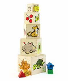 Take a look at this Animal Tower by Hape Toys on #zulily today!