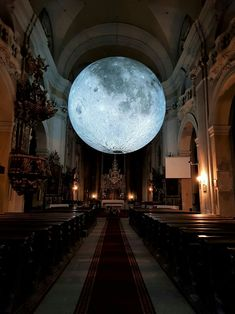 """allthingssoulful: """"Museum of the Moon in the oldest church in Cluj-Napoca. Pale Moon, Red Moon, Girl With Green Eyes, Old Churches, Tumblr, Romeo And Juliet, Gaudi, Trip Planning, Contemporary Art"""