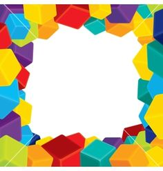 Free Vector   Colorful border from cubes vector 1163650 - by PILart on VectorStock®