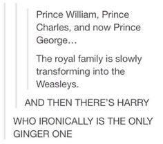 The Weasley were named after the kings, its not a coincidence