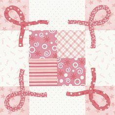 Pink Ribbons Block Pattern -- free download