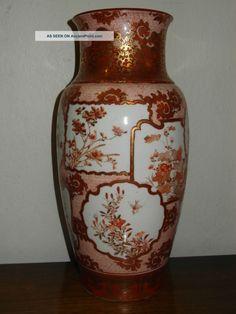 China Antique Nippon Japanese Kutani Porcelain Vase Meiji Period Mark ...