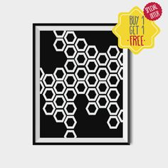 Polygonal poster, Modern illustration, Geometric shapes wall art, Home art decor, Scandinavian geometry art, Black and white polygons.  This listing is for an INSTANT DOWNLOAD of 2 PDF files of this artwork. Just purchase the listing and your print is ready to download instantly. Why not print one for a friend, or just for fun?  Once you purchase the poster you will receive the following files:  - 1 JPEG high resolution (300 dpi) file with trim marks 8x10 inches. - 1 JPEG high resolution…