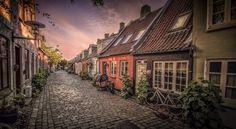 The street Møllegade in Aarhus, Denmark.